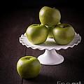 Green Apple Still Life by Edward Fielding