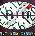 Green Bay Packers Football License Plate Art by Design Turnpike