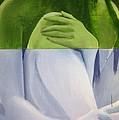 Green Blue Nue Diptych by Geoff Greene