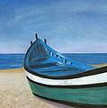 Green Boat Blue Skies by Arlene Crafton
