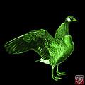 Green Canada Goose Pop Art - 7585 - Bb  by James Ahn