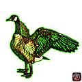 Green Canada Goose Pop Art - 7585 - Wb by James Ahn