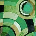 Green Circle Abstract by Karen Adams