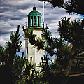 Green Copper Lantern Room On Scituate Lighthouse by Jeff Folger
