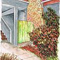 Green Door In Burbank - California by Carlos G Groppa