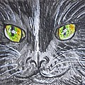 Green Eyes Black Cat by Kathy Marrs Chandler