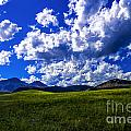 Green Field Of Clouds by Rick Bragan