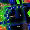 Green Geometric Spots by Mario Perez