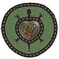 Green Heart Turtle by Douglas K Limon
