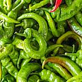 Green Hot Peppers by John Trax