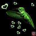 Green Hummingbird - 2055 F by James Ahn
