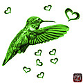Green Hummingbird - 2055 F S M by James Ahn