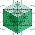 Green Hypercube by Steven Dunn