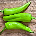 Green Jalapeno Peppers by Tom Gowanlock