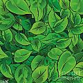 Green Leaves - V1 by Hanan Evyasaf
