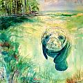 Green Manatee by Diane Phelps