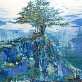 Green Mountain Tree by Christine Cobden