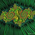 Green Ornament by Barbara Zahno