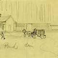 Green Pond Drive, Drawing, 1862-1865, By Alfred R Waud by Quint Lox