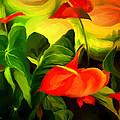 Green Red by Cristina Edelman