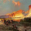 Green River Cliffs Wyoming by Thomas Moran