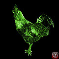 Green Rooster 3186 F by James Ahn