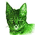 Green Savannah Cat - 5462 F S by James Ahn