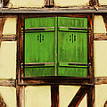 Green Shutters In Colmar France by Greg Matchick