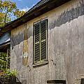 Green Shutters Stucco Walls St Augustine by Rich Franco