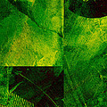 Green Square Abstract by Ann Powell