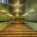 Green Stairs by Nathan Wright