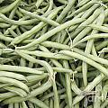 Green String Beans Display by Lee Serenethos