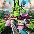 Green Tara by Jonathan Weber