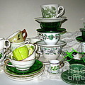 Green Teacups  by Nancy Patterson