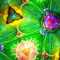 Green Thing 2 Abstract by Saundra Myles