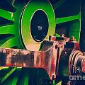 Green Train Wheel by Paul Stevens