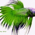Green Tropical Fish by Bruce Nutting