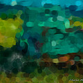 Green Truck In Abstract by Charles Muhle