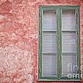 Green Window On Red Wall. by Sophie McAulay
