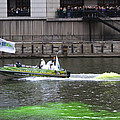 Greening The Chicago River For St Patrick's Day by Sven Brogren