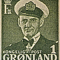 Greenland Stamp Circa 1950 by Bill Owen