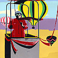 Greeting Card Hot Air Ballooning by Walt Curlee