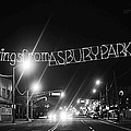 Greetings From Asbury Park New Jersey Black And White by Terry DeLuco