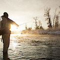 Greg Houska Fly Fishing On The Provo by Wray Sinclair