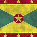 Grenada Flag by World Art Prints And Designs
