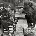 Greta Garbo And Leo The Lion In 1926 by Sad Hill - Bizarre Los Angeles Archive