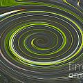 Grey And Green Twirl by Tina M Wenger