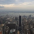 Grey Sky Over Manhattan by Christiane Schulze Art And Photography