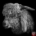 Greyscale Angora Goat - 0073 F by James Ahn