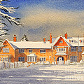 Griffin House School - Snowy Day by Bill Holkham